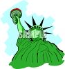 Statue of Liberty Crying clipart