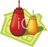 Condiments in Sqeeze Bottles clipart