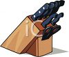Wooden Block Holder for Knives clipart