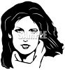 Beautiful, Elegant Woman clipart