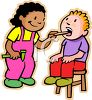 Kids Playing Doctor Clip Art clipart