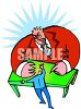 Worker Being Fired by Boss Clip Art clipart