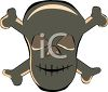 Skull and Crossbones Clip Art clipart