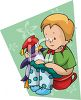Child on the Potty Clip Art clipart