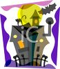 Spooky Haunted House Clip Art clipart