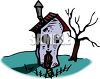 Haunted House on Halloween Clip Art clipart