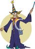 Mailman Wearing a Wizard Costume on halloween clipart