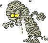 Cartoon Mummy  clipart