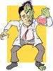 Dr. Jekyll Becoming Mr. Hyde clipart