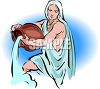 Astrological Sign for Aquarius clipart