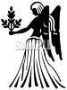 Zodiac Silhouette of Virgo clipart