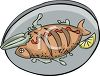 Plate of Seafood Clip Art clipart