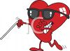 Blind Heart Depicting Love is Blind clipart