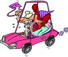 Woman with Road Rage clipart