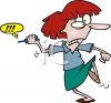 Angry Woman Throwing Her Cell Phone clipart