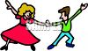 Husband and Wife Dancing Clip Art clipart