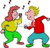 Man and Woman Dancing Clip Art clipart