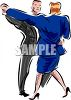 Husband and Wife Dancing Clipart clipart