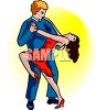 Man and Woman Dancing the Flamenco Clip Art clipart