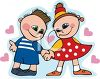 Boy and Girl Holding Hands clip Art clipart