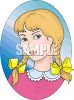 Clip Art Image of Little Girl in Pigtails clipart