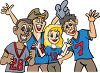 Group of Football Fans Clip Art clipart
