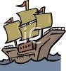 The Mayflower Ship Clip Art clipart