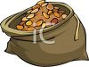 Sack Full of Gold Coins Clip Art clipart