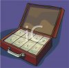 Briefcase Full of Money Clip Art clipart