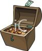 Chest Full of Gold Coins Clip Art clipart