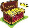 Treasure Chest of Gold and Jewels Clip Art clipart