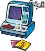 Toy Cash Register Clip Art clipart