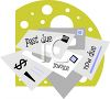 Pile of Bills Clip Art clipart