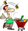 Dad Grocery Shopping Clip Art clipart