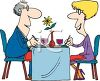Cartoon of  a Couple On a Date Clipart clipart