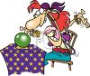 Fortune Telling Gypsy Clip Art clipart