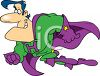 Cartoon Superhero Clip Art clipart