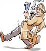 Detective Looking for Clues Clip Art clipart