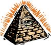 Eye of Providence-Pyramid Clip Art clipart