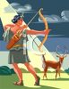 Artemis Goddess of the Hunt Clip Art clipart