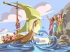 Odysseus Passing the Sirens Safely Clip Art clipart