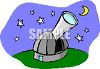 Telescope and Observatory Clip Art clipart