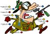 Man Losing at a Paintball Competition Clip Art clipart