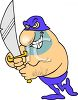 Executioner Who Enjoys His Work Clip Art clipart