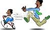 Dad Chasing His Son Clip Art clipart