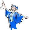 Young Female College Graduate Clip Art clipart