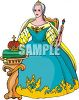 Queen Seated on Her Throne Clip Art clipart