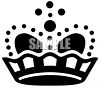 Silhouette of an Elaborate Crown Clip Art clipart
