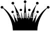 Simple Spiked Crown Clip Art Silhouette clipart