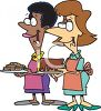 Women Going to a Bake-Off Clip Art clipart